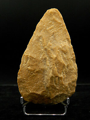 ANCIENT Quartzite HAND AXE - Acheulean Civilization - 14 cm LONG - Sahara