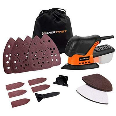 Enertwist Mouse Detail Sander, 13000OPM Lightweight Compact With Dust Box For In