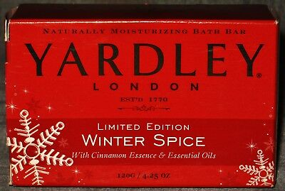 Vintage & Rare Yardley Of London Winter Spice Moisturizing Bar Soap New In Box
