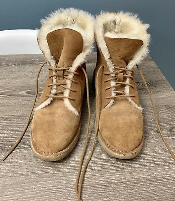 45d952319d0 UGG WOMEN'S QUINCY 1012359 Chestnut Winter Boot - $155.50 | PicClick