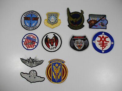 c43/ Vintage WW2 / Korea/ Vietnam/ USAF/ Army/ Patches/ Lot of 11pcs