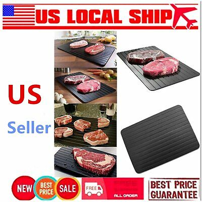 Fast Defrosting Tray Frozen Meat Defrost Food Thawing Plate Safe Board Tools #1$