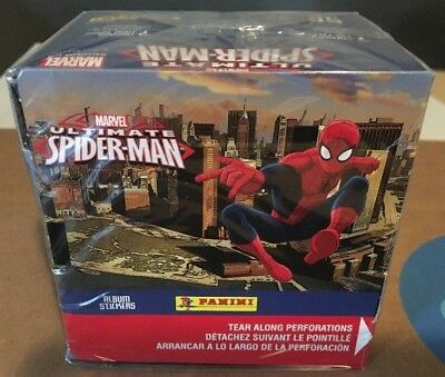 Ultimate Spider-Man Factory Sealed 50 Pack Box 2014 Marvel Panini Stickers