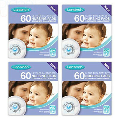 Lansinoh Disposable Nursing Breast Pads with Blue-Lock core pack Pack of 240