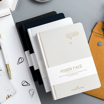 """Poker Face"" 1pc White Papers Journal Busines Notebook Diary Sketchbook Notepad"