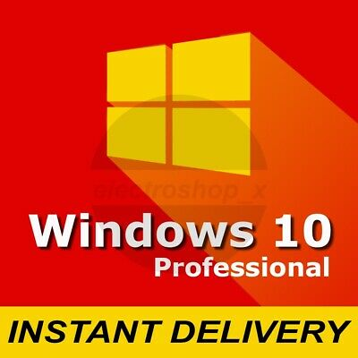Microsoft Windows 10 Pro Professional 32 64 bit GENUINE KEY WIN 10 License code