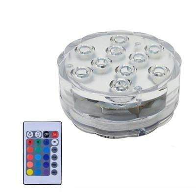 1Pc Submersible LED Under Water Light Remote Control Pool Fountain Swimming Lamp