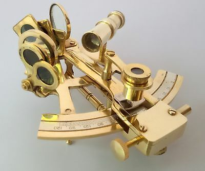 Marine Maritime Nautical Collectible Solid Brass Sextant Best Christmas Gift.