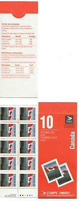 1991 Canada SC# BK 137b - Flag and Hills - booklet of 10 M-NH