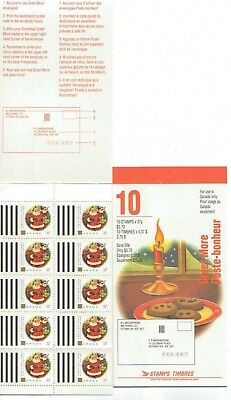 1992 Canada SC# BK 149a - Christmas Greet More - booklet of 10 M-NH