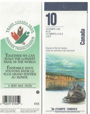 1994 Canada SC# BK 170b - Heritage Rivers - booklet of 10 M-NH