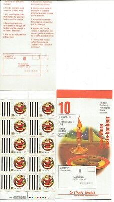 1992 Canada SC# BK 149b - Christmas Greet More - booklet of 10 M-NH