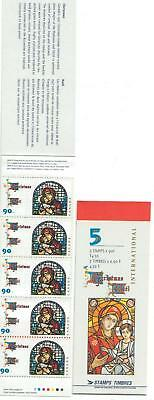 1997 Canada SC# BK 204b - Christmas Madonna and Child - booklet of 5 M-NH