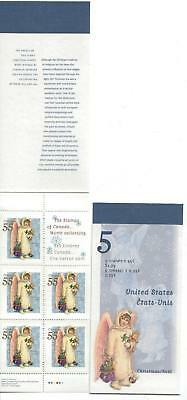 1999 Canada SC# BK223b - Christmas - Angel with Toys - booklet of 5 M-NH