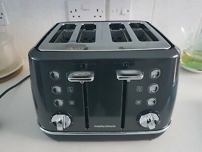 Morphy Richards Evoke 4 Slice Toaster 240105 Four Slice Toaster, Black