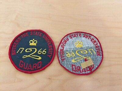 """rutgers""""the state university"""" guard, patch, new old stock, 1970's"""