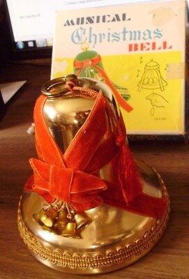 Vintage Retro 1950's Musical Christmas Bell in Box Japan Works
