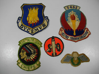 c49/ Vintage WW2 / Korea/ Vietnam/ USAF/ Army/ Patches/ Lot of 5 pcs.