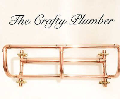Copper Pipe Towel Rail, Towel Holder, Industrial, Steampunk, Bathroom Home Decor