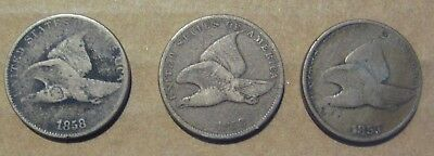 Lot of 3 Flying Eagle Cents Take A L@@K