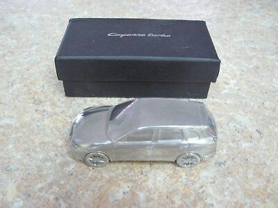 Porsche Cayenne Turbo Limited Edition Aluminum Paperweight 1:43 Scale w/Gift box