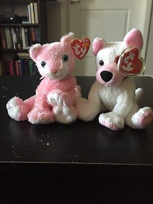 Ty Beanie Baby ~ CARNATION the Cat And Cupid the Dog! Rare Retired Beanies 074dbf95f53e