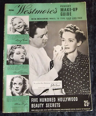 P. Westmore's perfect make-up guide / 1939 / 500 Hollywood beauty secrets / RAR!