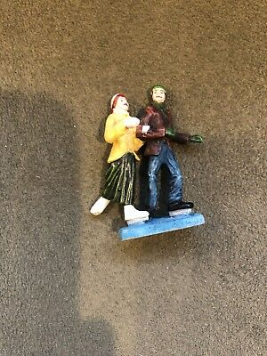 Hawthorne Village Accessories SKATERS Man+Woman People Figurine Winter Christmas