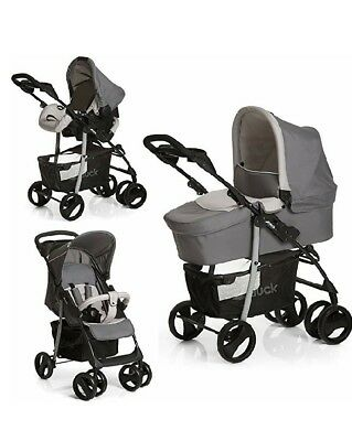 Hauck Shopper SLX Trio Set/Kombi 3 in 1 Kinderwagen/Babyschale/Sportwagen