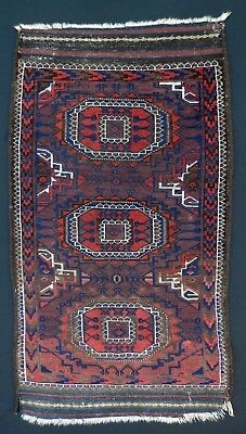 Pre-1900 Antique 1880's-90's Small Size BELOUCHI Tent/Wedding Rug. Natural Dyes