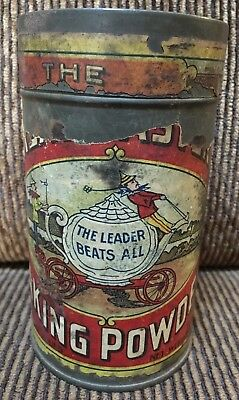 The Great Eastern Baking Powder One Pound Tin W/ Embossed Lid & Paper Label