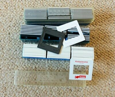 Gepe & Kodak plastic glassless 35mm slide mounts