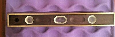 """VINTAGE Wooden 18"""" Level with brass trim--3 viewing sites--Awesome antique look"""