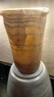 ANCIENT EGYPTIAN BANDED ALABASTER VESSEL/JAR! Great Provenance! AUTHENTIC! RARE!