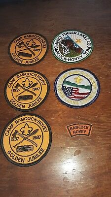 Camp Babcock Hovey Boy Scout Patches