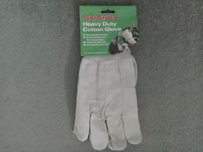 Gardening Gloves Heavy Duty Breathable Cotton Washable Safety Protection New