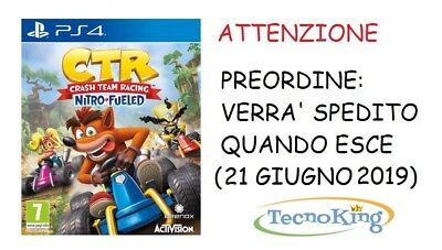 Crash CTR Team Racing Nitro-Fueled PS4 Playstation 4 Italiano ITA - Preordine