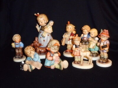 RARE Lot Of 8 Hummel Figures 339 Behave Girl w/Doxie 136 4/0 2125 220 432 534 +