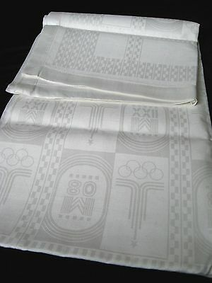 old unused linen tablecloth from Olympic Games Mockba 1980