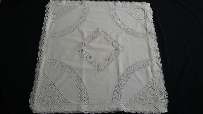 antique german pillow case with Lace