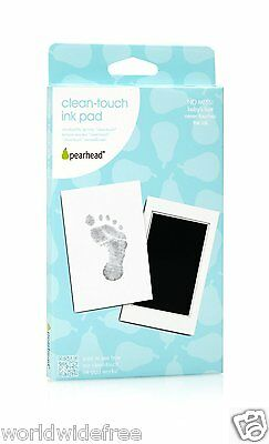 Bulk 6 Pearhead Mess-Free and Clean-Touch Ink Pads, Black-foot/handprints