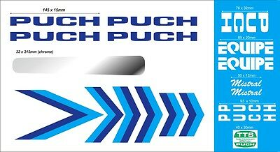 Puch Mistral Equipe Frame Decal Set