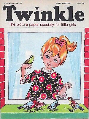 TWINKLE - 15th FEBRUARY 1969 (13- 19 Feb) RARE 50th BIRTHDAY GIFT !! FINE+ bunty