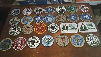 A Collection of Boy Scout Patches From Keseca District