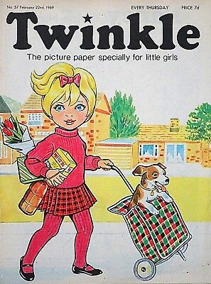 TWINKLE - 22nd FEBRUARY 1969 (20- 26 Feb) RARE 50th BIRTHDAY GIFT !! FINE+ bunty