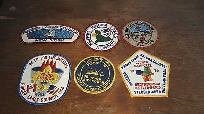 Boy Scout Patches From The Finger Lakes Council