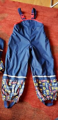 Boys 4-6 years Waterproof trousers fleece lined water proof jacket