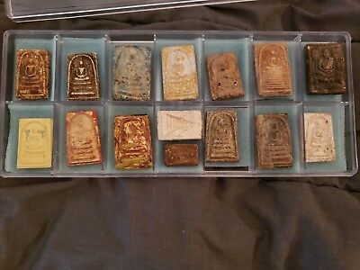 LOT OF THAI BUDDHA AMULETS--15 Pieces