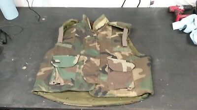PASGT Flak Vest, Woodland, Size XL, in Great Condition