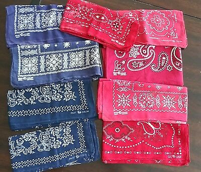 VINTAGE Huge Lot 52 Workwear BANDANAElephant Colorfast Paris  All Made in USA